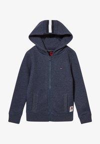 Tommy Hilfiger - BACK INSERT HOODED FULL ZIP - Zip-up hoodie - blue - 3