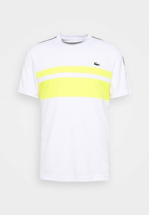 TENNIS - T-shirt z nadrukiem - white/pineapple/navy blue