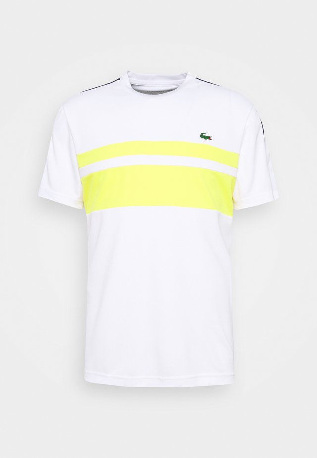 TENNIS  - T-shirt con stampa - white/pineapple/navy blue