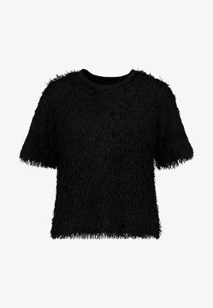 ORAN - Camiseta estampada - black