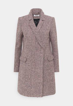 ANJA - Classic coat - violet motif