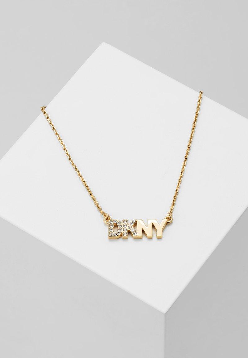 DKNY - PAVE LOGO PENDANT  - Necklace - gold-coloured