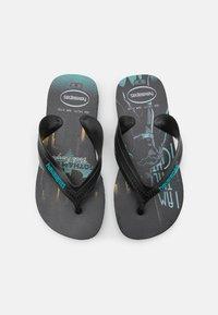 Havaianas - MAX HEROES - T-bar sandals - black/blue - 0
