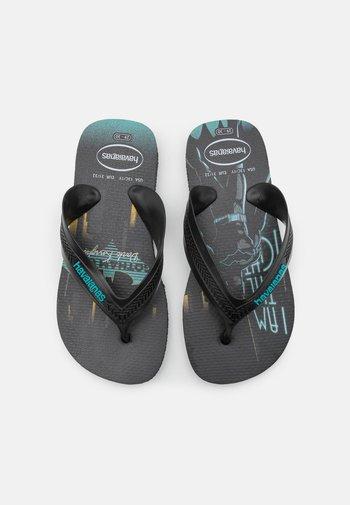 MAX HEROES - T-bar sandals - black/blue