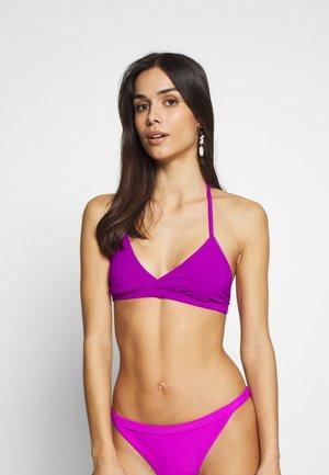 FARAWAY RIBBED SWIM TOP - Bikini top - purple
