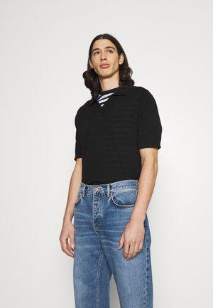 SHORT SLEEVE - Polo marškinėliai - black
