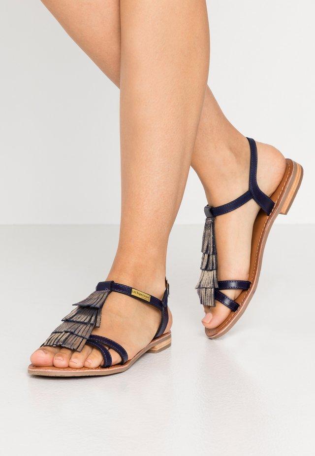 BELIE - Sandaalit nilkkaremmillä - marine