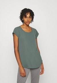ONLY - ONLNOVA LUX SOLID - Basic T-shirt - balsam green - 0