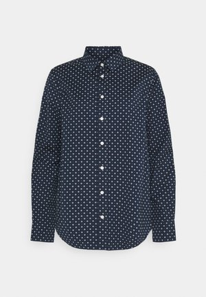 FAIRLY DOT STRETCH - Button-down blouse - marine