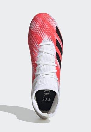 PREDATOR 20.3 FG - Botas de fútbol con tacos - ftwwht/cblack/pop