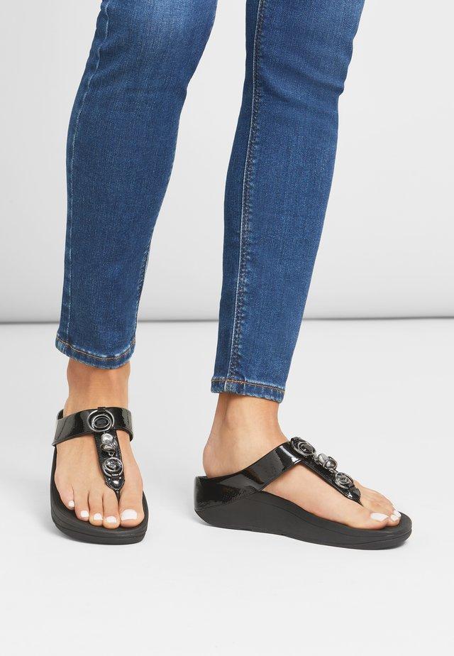 FINO - T-bar sandals - all black
