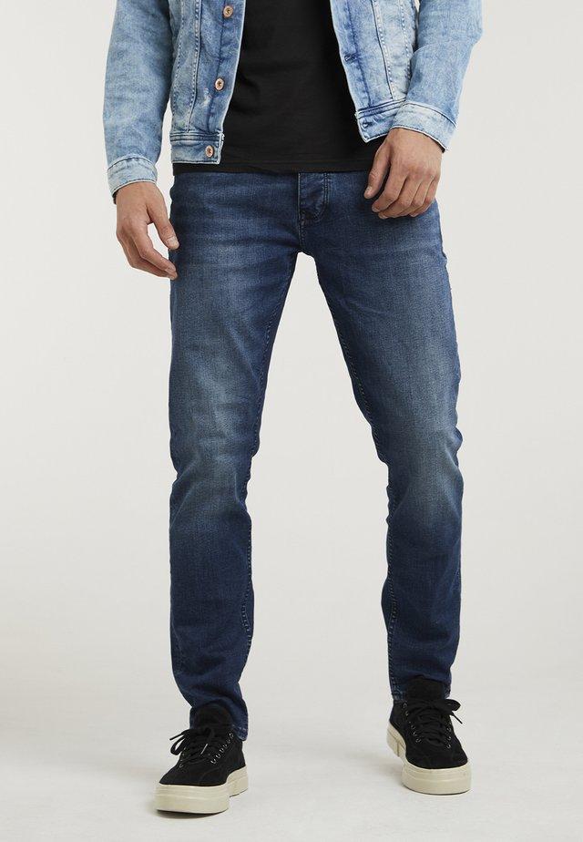 CROWN OREGON - Straight leg jeans - dark blue