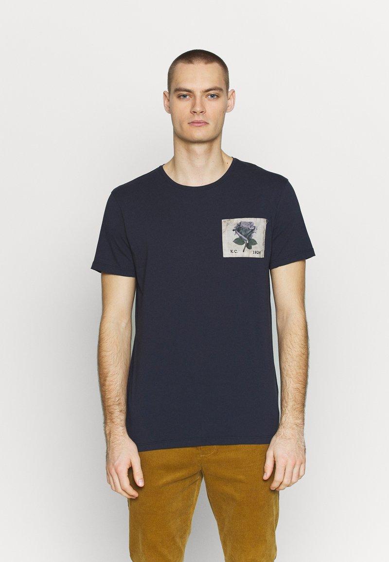 Kent & Curwen - CAMBELL - Print T-shirt - deep blue