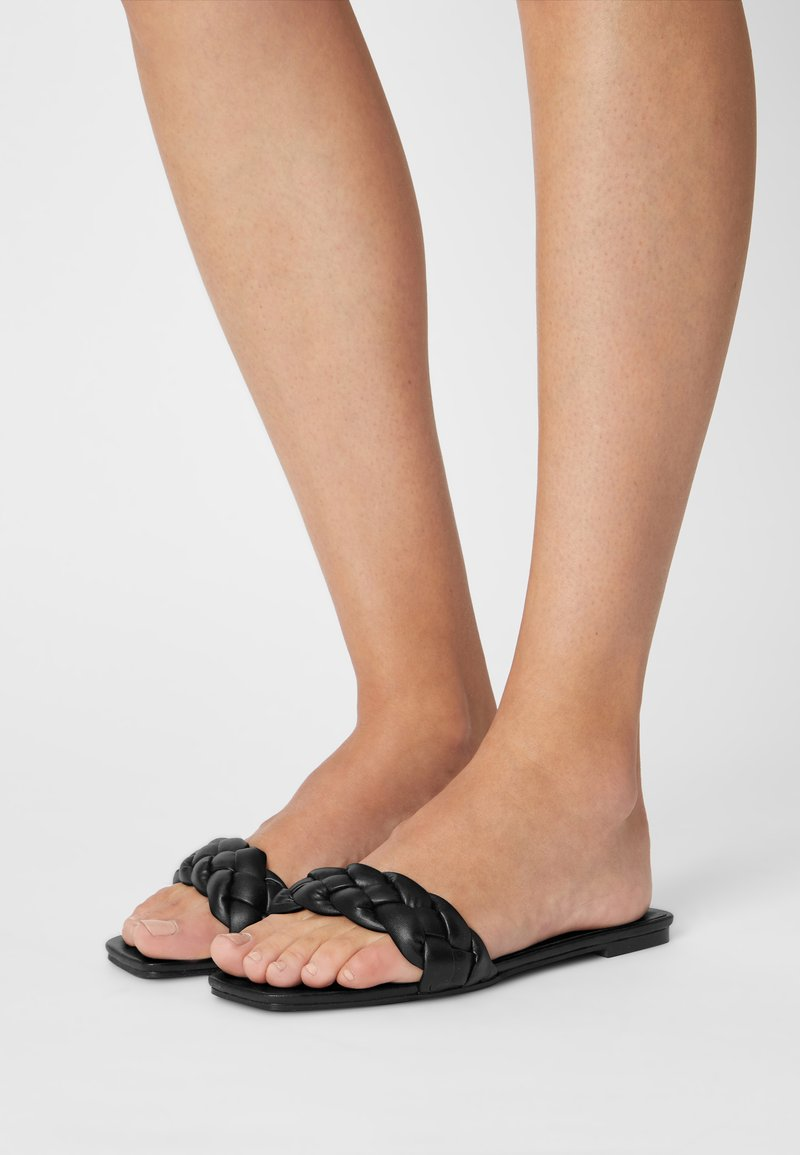 Nly by Nelly - BRAIDED FLAT - Mules - black