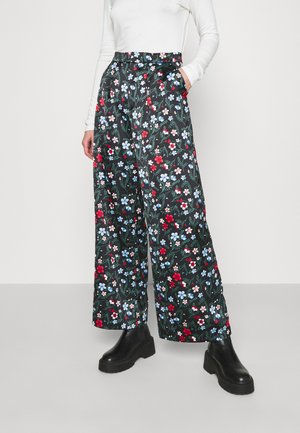 MINA TROUSERS - Pantalones - black