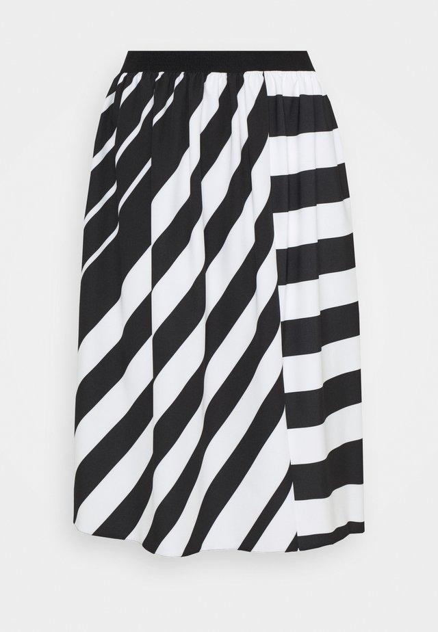 AIELLO - Áčková sukně - nero