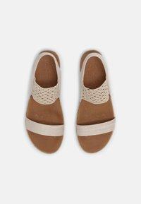 Skechers - BRIE - Platform sandals - nude sparkle - 4