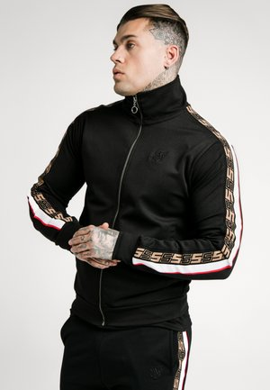 RETRO ZIP THROUGH - Chaqueta de punto - black