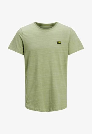 SLIM FIT - Print T-shirt - oil green