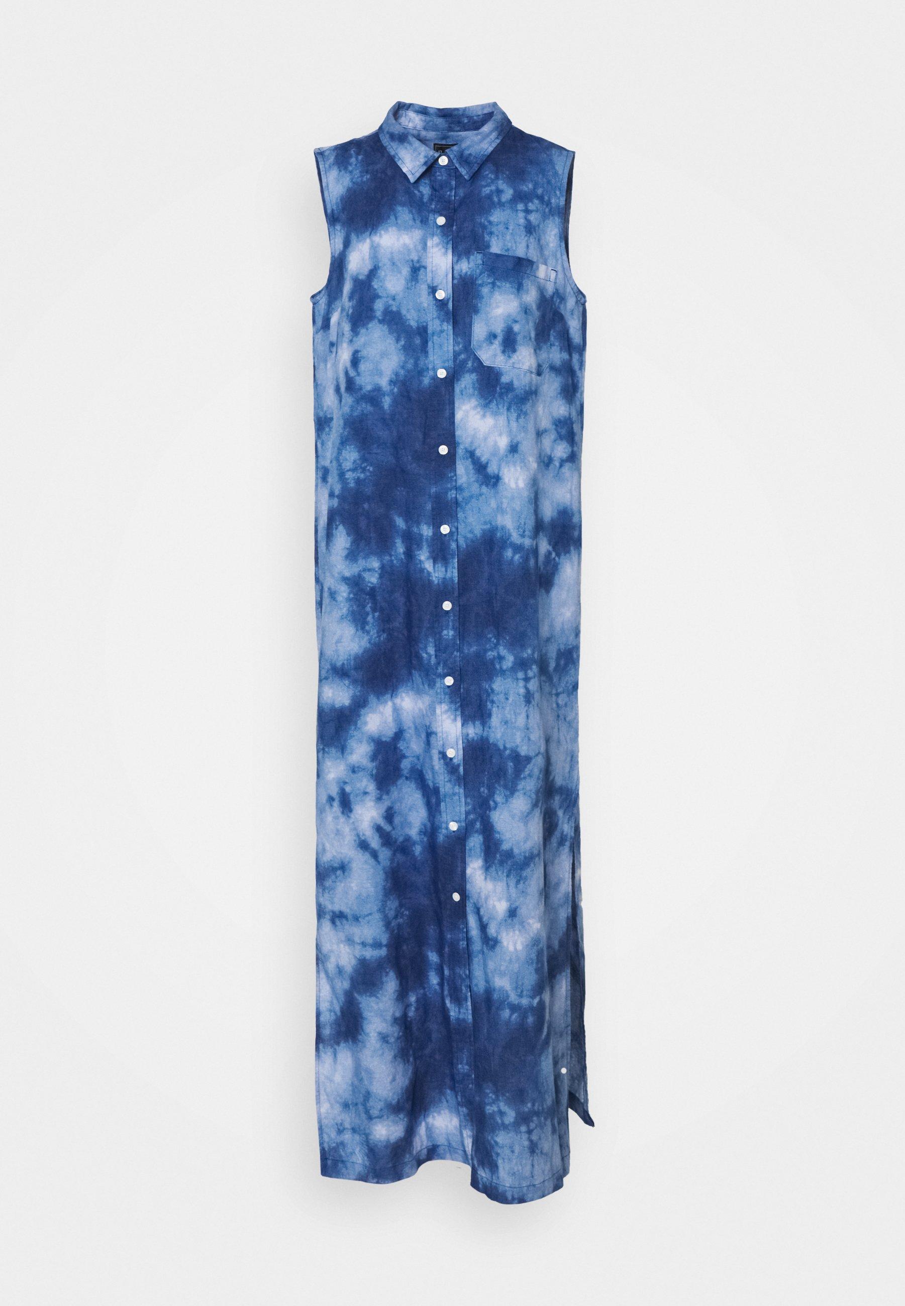 Gap Tall - DRESS MAXI TIE DYE - Długa sukienka - blue