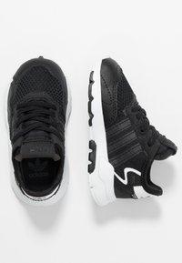 adidas Originals - NITE JOGGER - Slip-ons - core black/carbon - 0