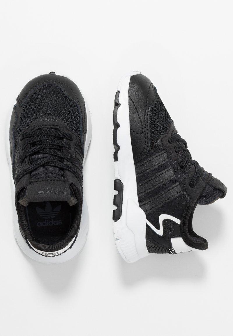 adidas Originals - NITE JOGGER - Slip-ons - core black/carbon