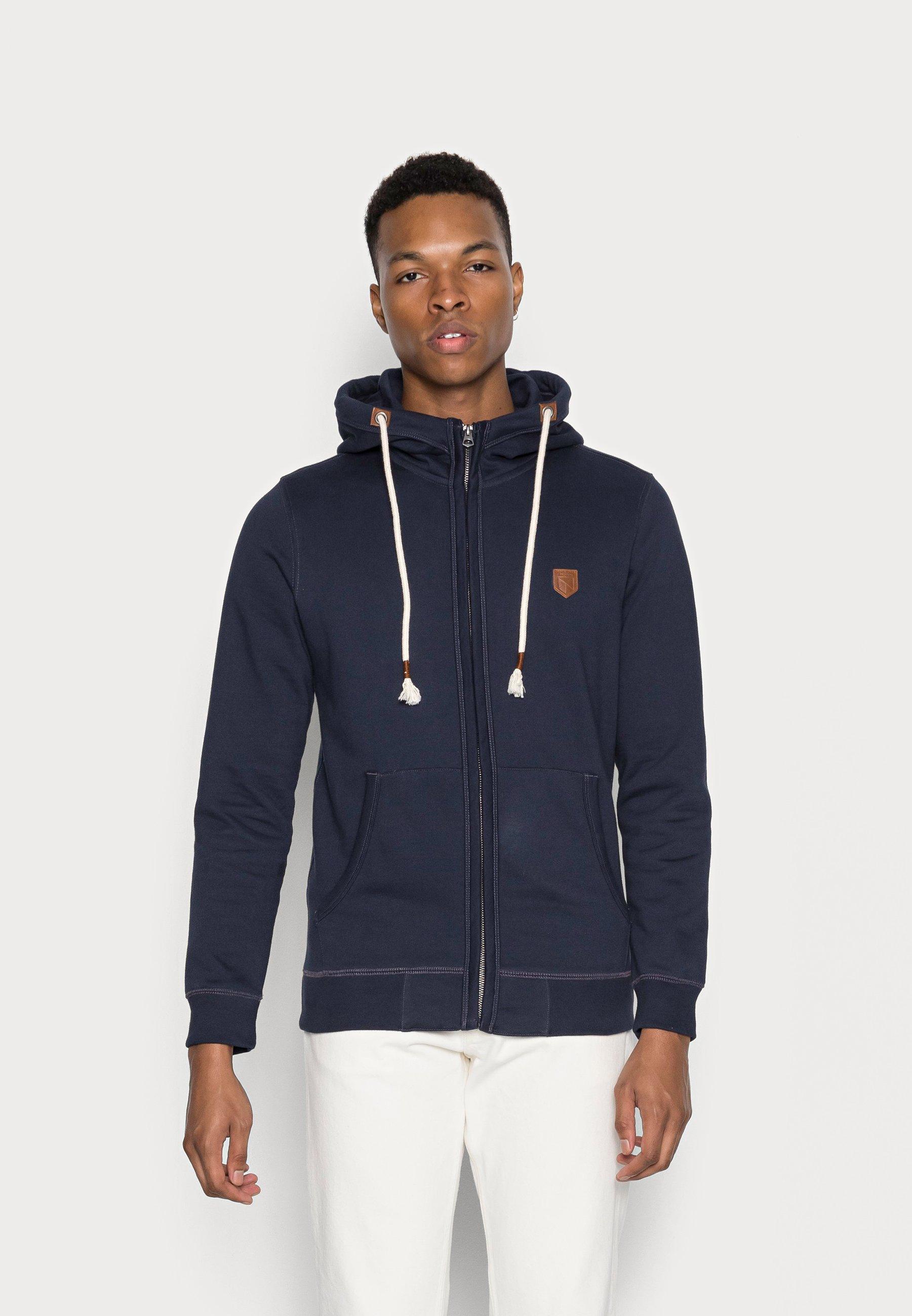 Men JPRBLUDAN ZIP HIGH NECK HOOD - Zip-up sweatshirt