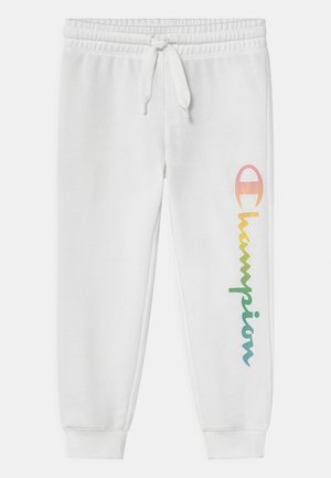 COLOR LOGO UNISEX - Tracksuit bottoms - white