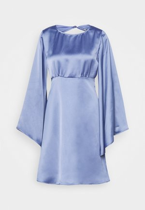 OPEN BACK MINI DRESS - Sukienka koktajlowa - blue