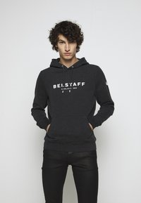Belstaff - Hoodie - dark charoal melange/off white - 0