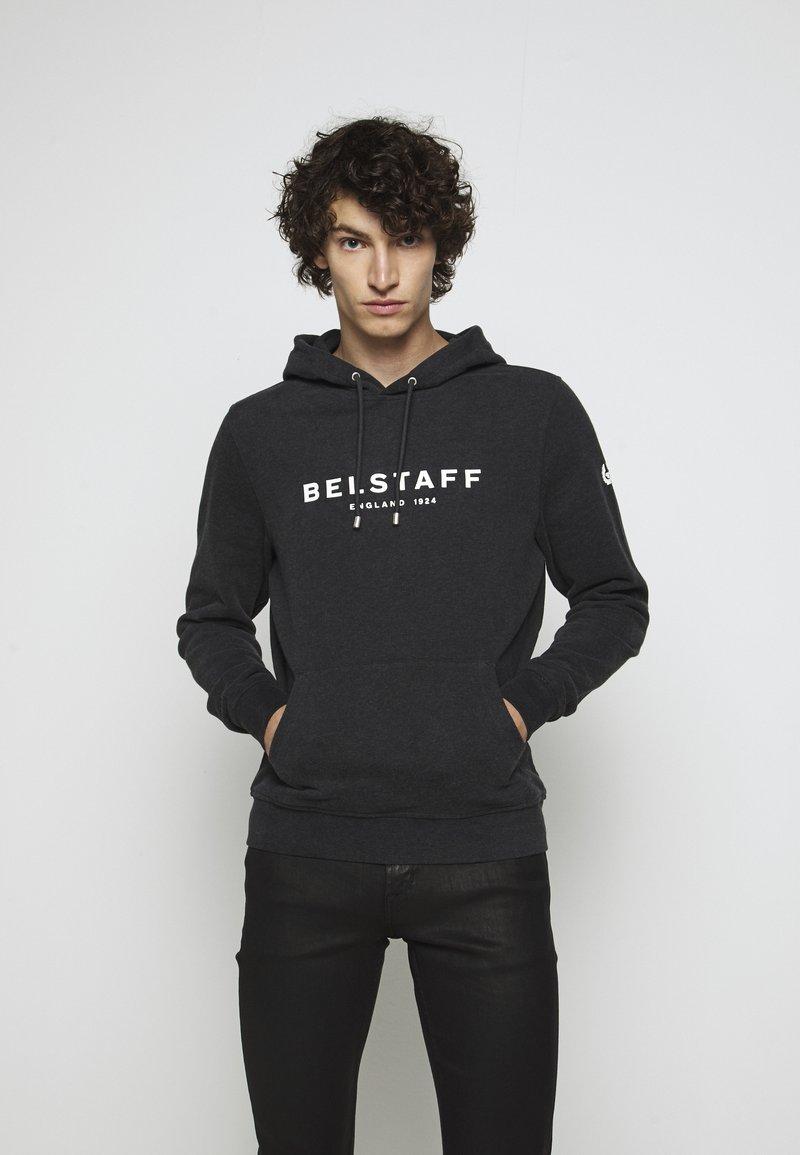 Belstaff - Hoodie - dark charoal melange/off white