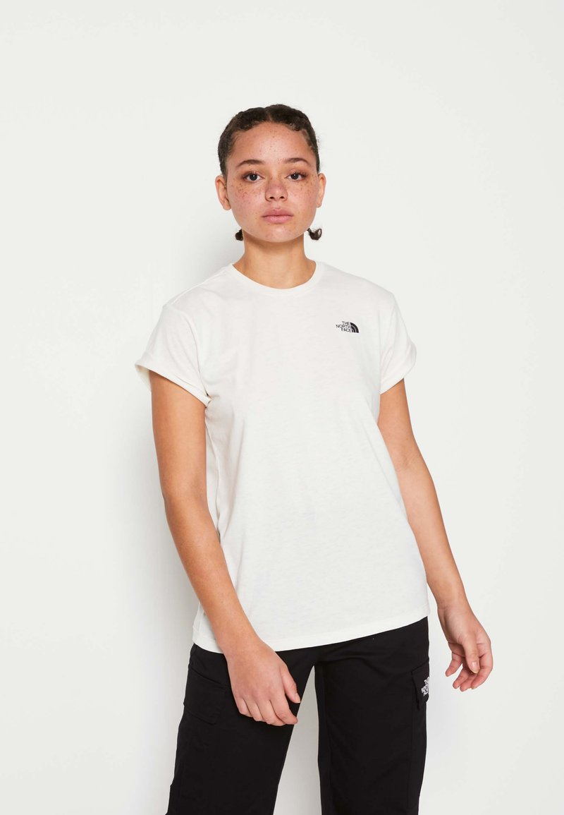 The North Face - W TISSAACK TEE  - Print T-shirt - vintage white