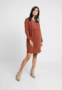 Paula Janz Maternity - DRESS BOSSA NOVA NURSING - Denní šaty - cayenne - 2