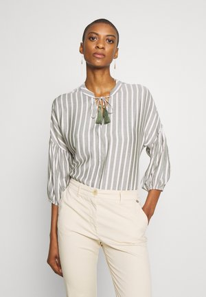 BLOUSE WITH TASSELS - Blůza - safari green