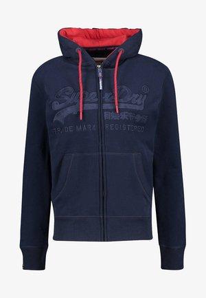 DOWNHILL RACER APP ZIPHOO - Zip-up hoodie - marine