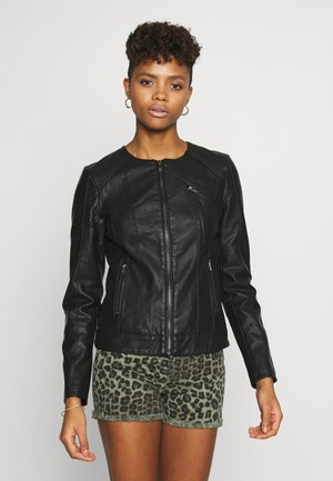 ONLNEWCATHY JACKET - Faux leather jacket - black