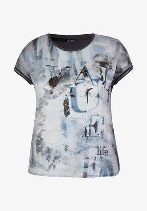 Print T-shirt - hellgrau