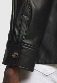 LIU JO - GIACCA CAMICIA - Leather jacket - nero - 7