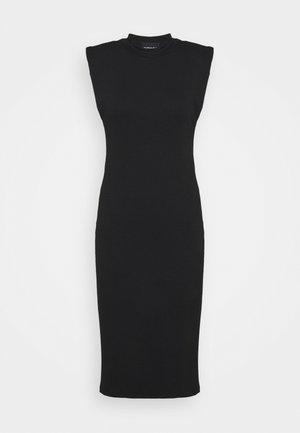 PCASLI MIDI DRESS - Vestido de punto - black