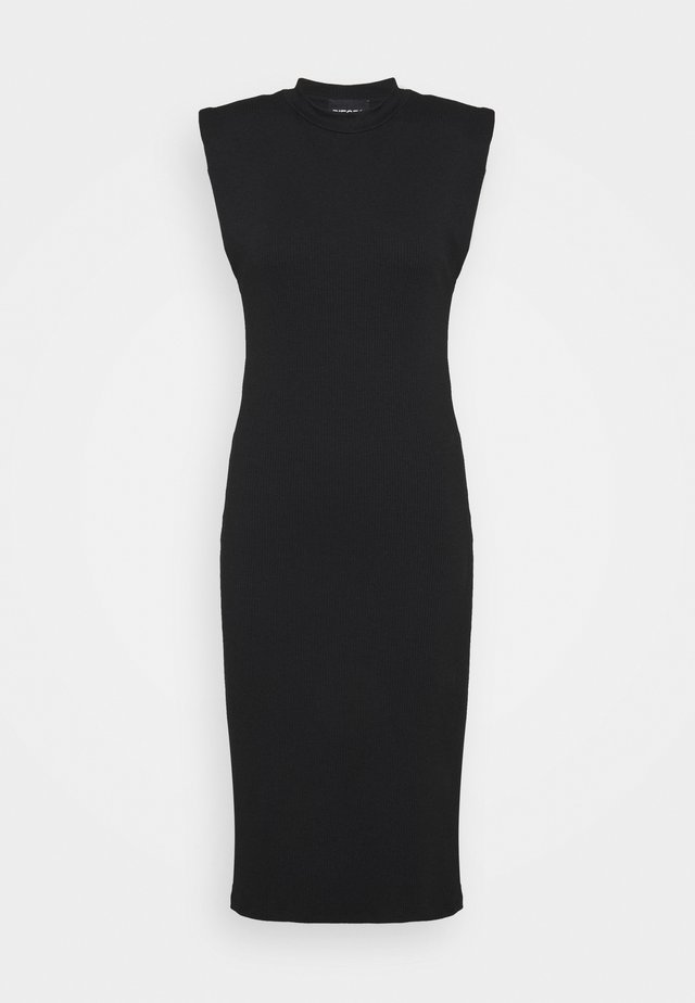 PCASLI MIDI DRESS - Gebreide jurk - black