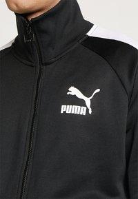Puma - ICONIC TRACK - Sweat à capuche zippé - black - 5