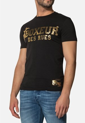 T-shirt con stampa - oro nero