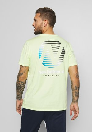 GRAPHIC HEATHERTECH - Print T-shirt - neon green