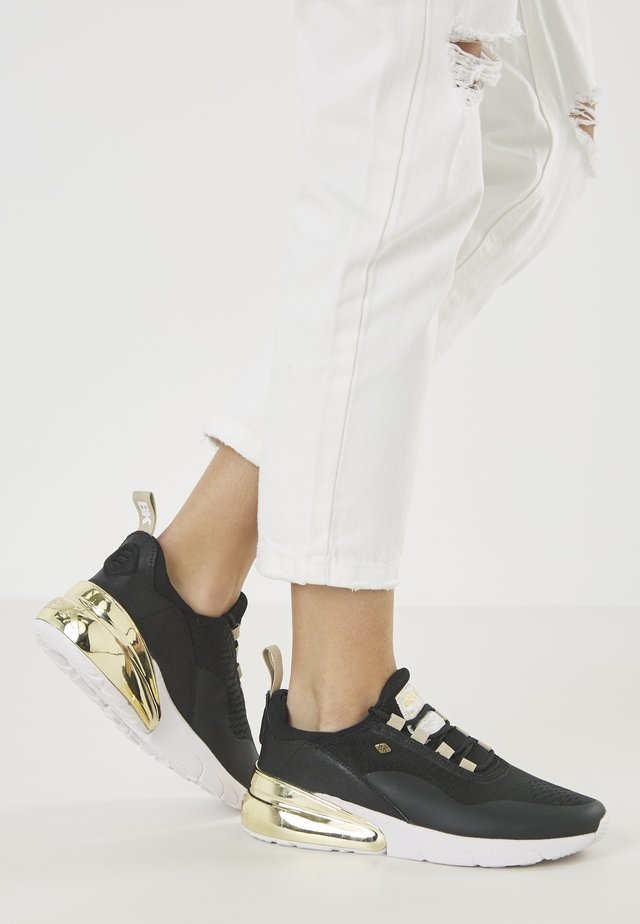 VALEN - Sneakers - black/gold