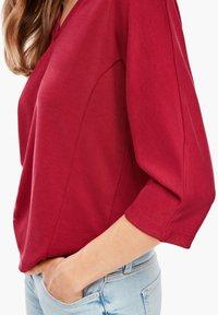 s.Oliver - Long sleeved top - dark red - 3