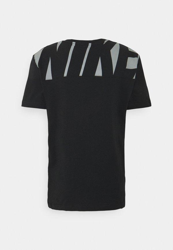 Nike Sportswear T-shirt z nadrukiem - black/white/czarny Odzież Męska ZUTN