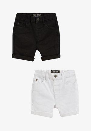 2 PACK - Jeans Shorts - schwarz