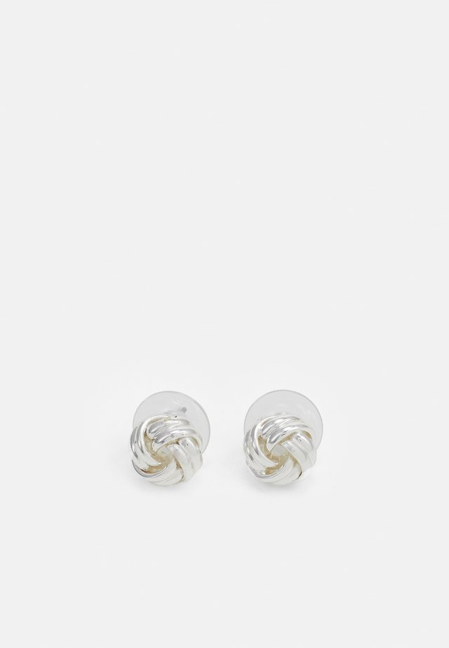 BASIC KNOT STUD - Earrings - silver-coloured
