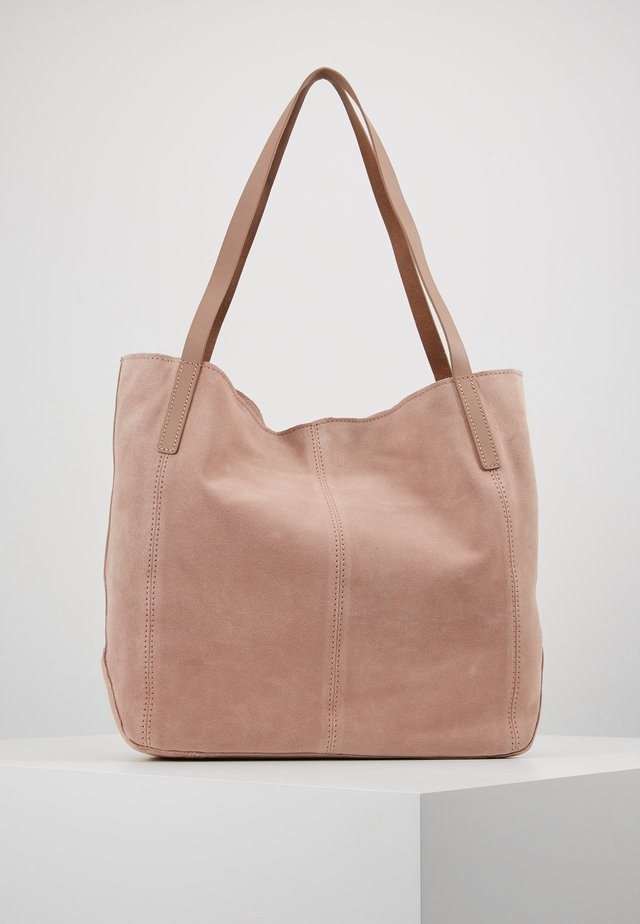 LEATHER - Bolso shopping - rose