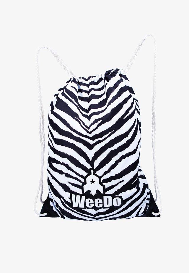 Drawstring sports bag - zebra white